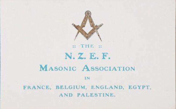 NZEF Masonic Association, 1917