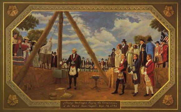 George Washington leveling the