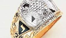 32 Degree Scottish Rite Masonic Ring - 10k two tone